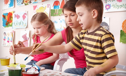 Painting-n-Pajamas Workshop for Two Children Aged 25 (a $40 value) - Express Yourself Studios in Maplewood