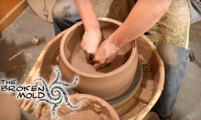 The Broken Mold - Troy: $30 for a 90-Minute Pottery Lesson for Two at The Broken Mold