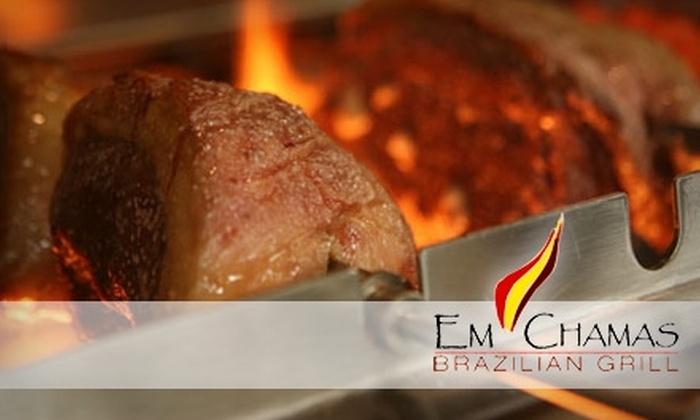Em Chamas - Breen Hills: $25 for $50 Worth of Brazilian Rodizio at Em Chamas