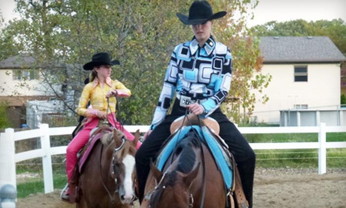 Nova Quarter Horses - Mokena: $69 for Five Group Horseback-Riding Lessons at Nova Quarter Horses in Mokena ($165 Value)