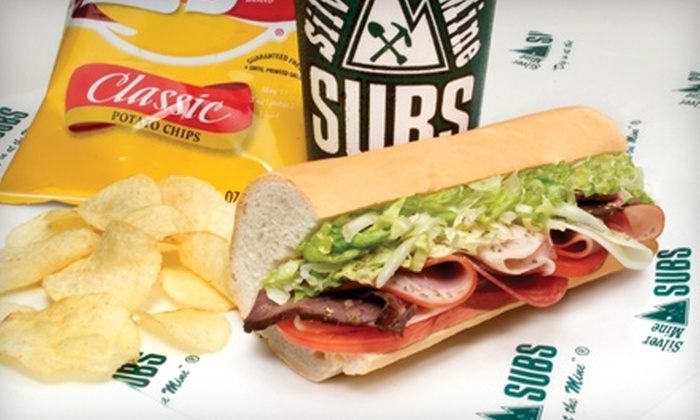 $6 for $12 Worth of Sandwiches, Salads, and Soup at Silver Mine Subs. Nine Locations Available.