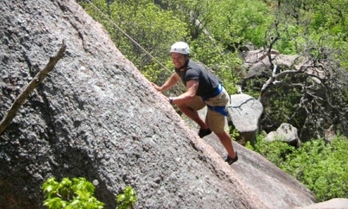 Rock-About - Southwest Travis: $49 for an All-Day Intro to Rock-Climbing Class in Dripping Springs from Rock-About ($100 Value)
