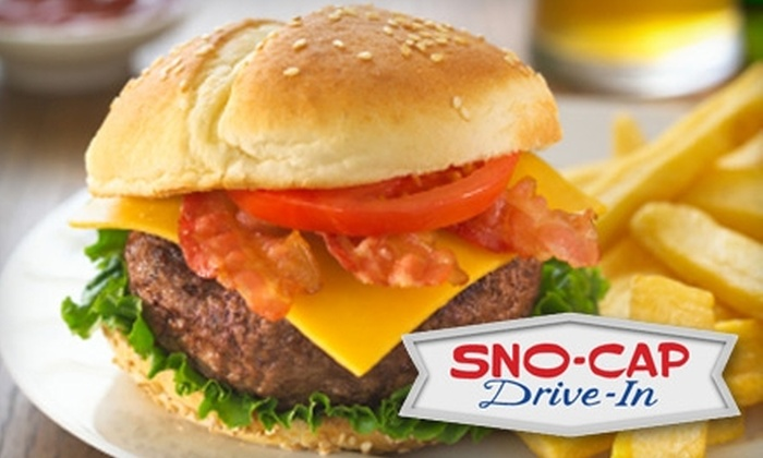 Sno-Cap Drive-In - North Augusta: $5 for $10 of Old-Fashioned American Fare and Drinks at Sno-Cap Drive-In