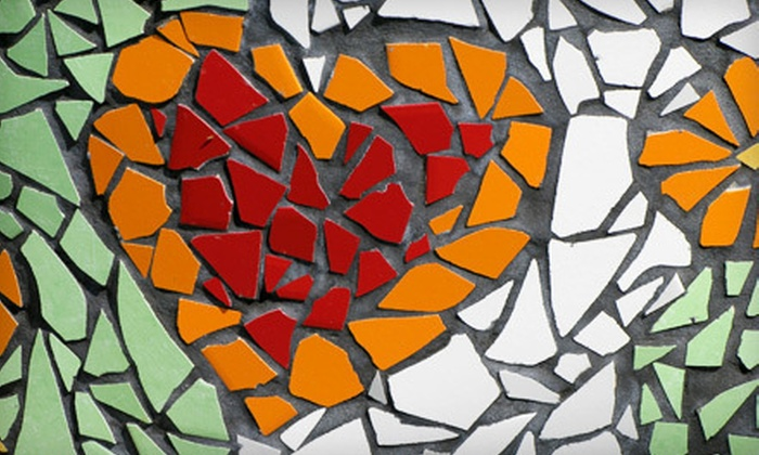 null - Ribinson: BYOB Mosaic Class for 2 or 4 or Private Mosaic Party for Up to 10 at Mosaic Mesa in Spring (Up to 61% Off)