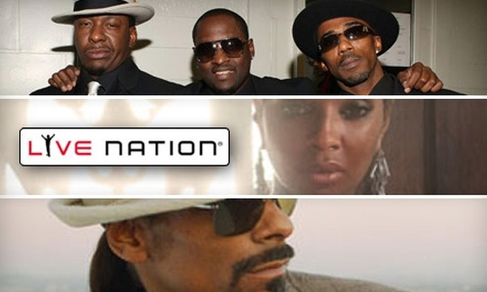 Live Nation - Universal City: Ticket to Mary J. Blige, Heads of State, or Snoop Dogg & Mike Epps at Gibson Amphitheatre in Universal City (Up to $96.30 Value). Choose from Three Options.