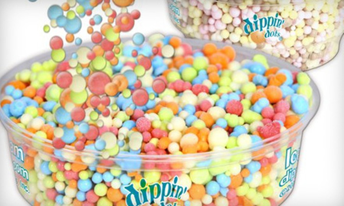Dippin Dots - Multiple Locations: $5 for $10 Worth of Cryogenically Frozen Ice Cream and Sundaes at Dippin Dots. Two Locations Available.