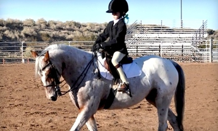 Desert Trails Horsemanship & Tiny Tots Corral - North Pinal: Up to 52% Off Horse-Riding Lessons at Desert Trails Horsemanship in Queen Creek. Three Options Available.