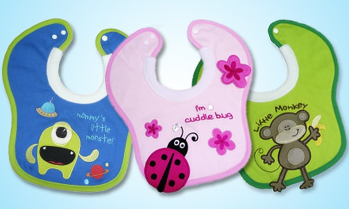 $32 for Two Milk Bibs and a Hooded Towel Blanket from Goo-Goo Baby ($61.97 Value). Six Prints Available.