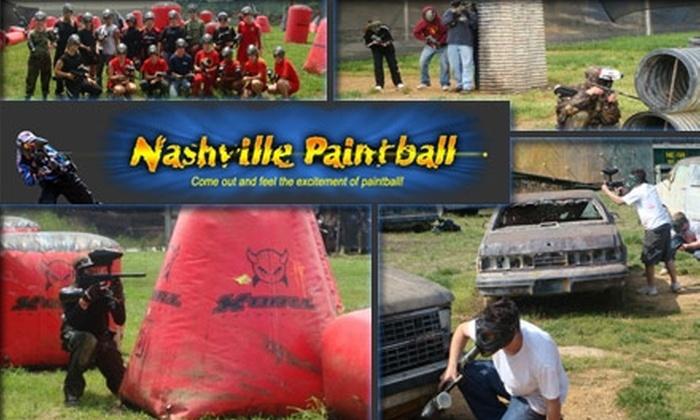 Nashville Paintball - Hoggett Ford Road: $28 for All-Day Paintball and Gear at Nashville Paintball