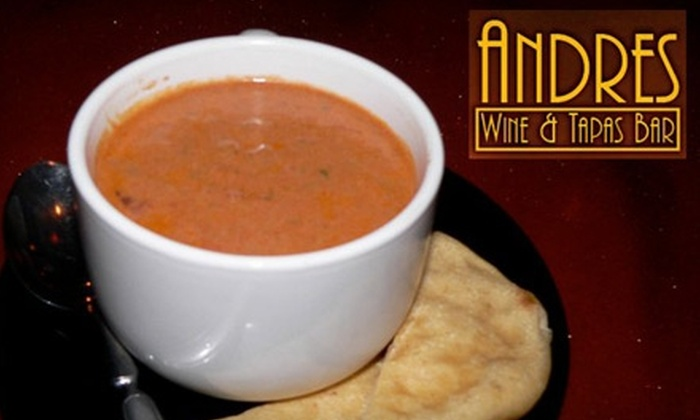 Andres Wine & Tapas Bar - San Buenaventura (Ventura): $12 for $25 Worth of Tapas and Drinks at Andres Wine and Tapas Bar in Ventura Harbor