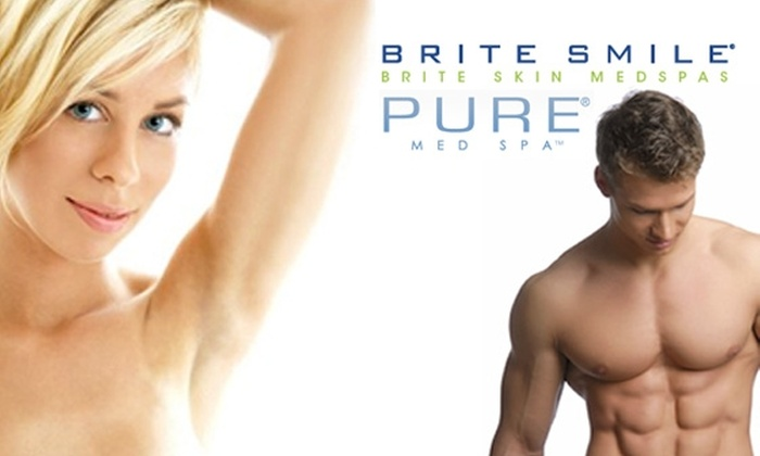 Brite Smile - Midtown Center: $185 for Three Laser Hair Removal Treatments ($892 Value)
