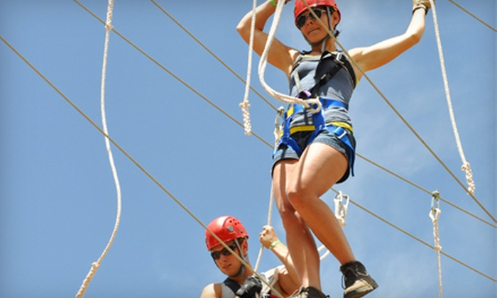 Colorado Adventure Center - No Name: $79 for Zipline, Rafting, and Camping Adventure from Colorado Adventure Center in Glenwood Springs (Up to $158.76 Value)