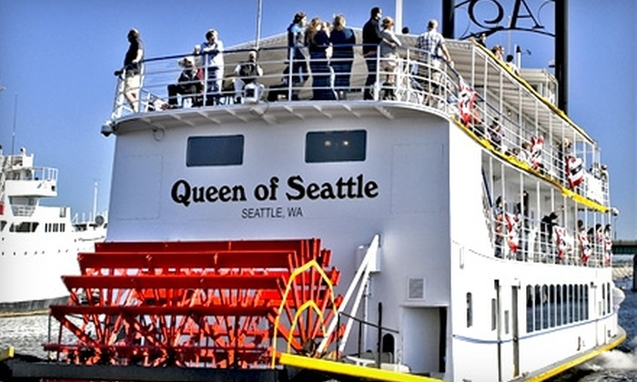 Queen of Seattle Paddle Wheel Cruises - South-Lake Union: $16 for a Two-Hour Cruise of Lake Union Ship Canal via Queen of Seattle Paddle Wheel Cruises ($32 Value)