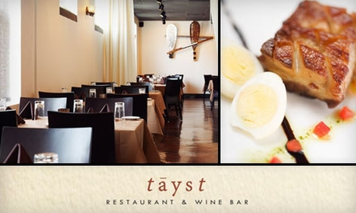 Tayst Restaurant & Wine Bar - Nashville: $15 for $30 Worth of Wine and Playful American Cuisine at Tayst Restaurant & Wine Bar