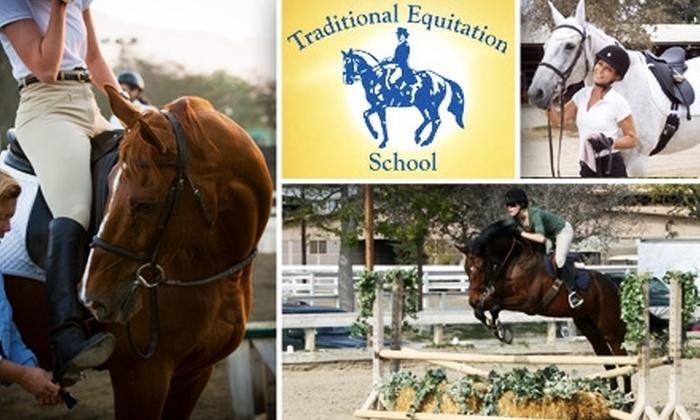 Traditional Equitation School - Los Angeles: $55 for a Riding-Lesson Package at Traditional Equitation School