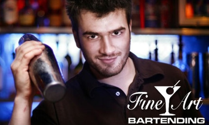 Fine Art Bartending - Strathcona: $65 for Intro to Bartending Class at Fine Art Bartending ($165.99 Value)