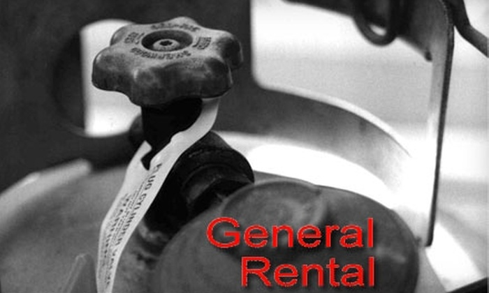 General Rental Center - Multiple Locations: $7 for One 20-Pound Propane-Tank Refill at General Rental Center