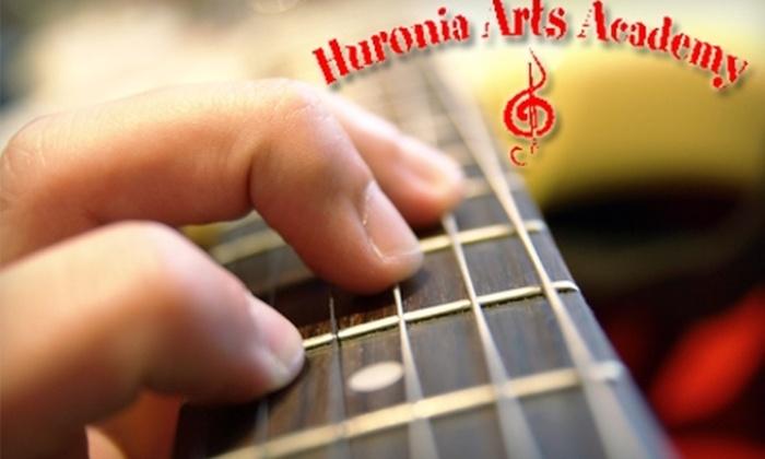 Huronia  Arts Academy - City Center: $45 for Four Private Music Lessons at Huronia Arts Academy ($100 Value)