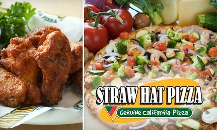 Straw Hat Pizza - Watsonville: $10 for $25 Worth of Pizza, Wings, and Drinks at Straw Hat Pizza in Watsonville