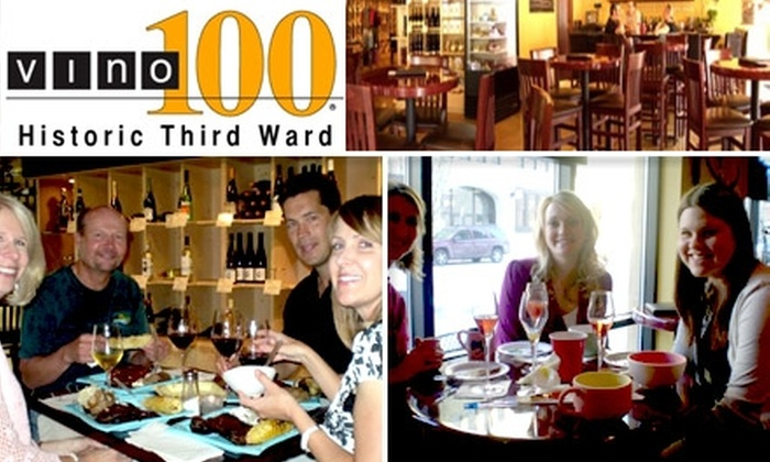 Vino 100 - Historic Third Ward: $15 for $30 Worth of Wine by the Glass & Appetizer Plates at Vino 100 Milwaukee