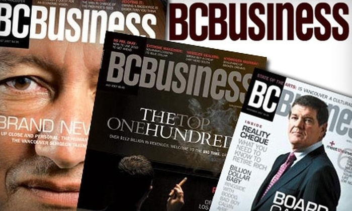 BCBusiness Magazine: $12 for 12-Month Subscription to BCBusiness Magazine ($29.05 Value)
