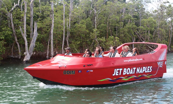 Pure Naples - Downtown Naples: $25 for a 60-Minute Jet-Boat Ride from Pure Naples (Up to $45 Value)
