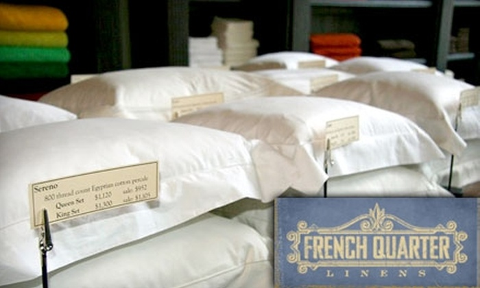 French Quarter Linens - Pearl: $49 for $100 Worth of Luxury Linens, Towels, and Gifts at French Quarter Linens