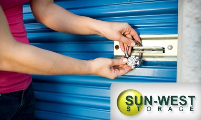 Sun-West Storage - Campbell No. 2B: Three Months of Storage at Sun-West Storage. Choose Between Two Options.