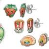 Shopkins Apple Blossom Pendant and Stud Earring Set