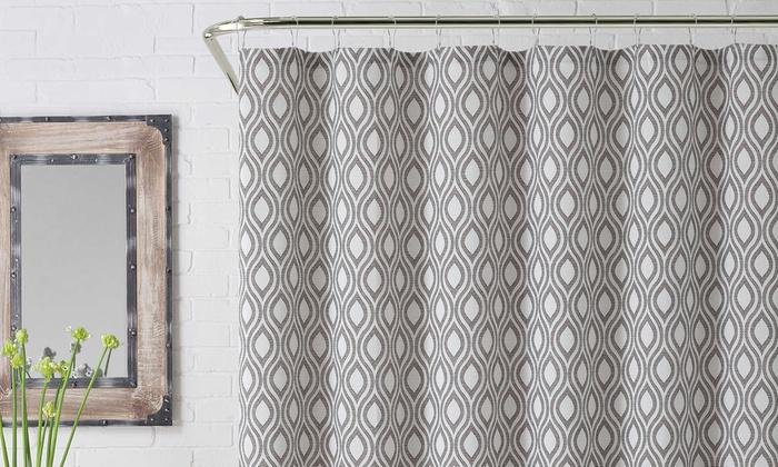 Modern Jacquard Shower Curtain