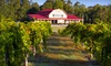 CAG FARMS - McGee's Crossroad: Wine Tasting and Tour with Wagon Ride and Souvenir Glasses for Two, Four, or Six at Gregory Vineyards (Up to 55% Off)