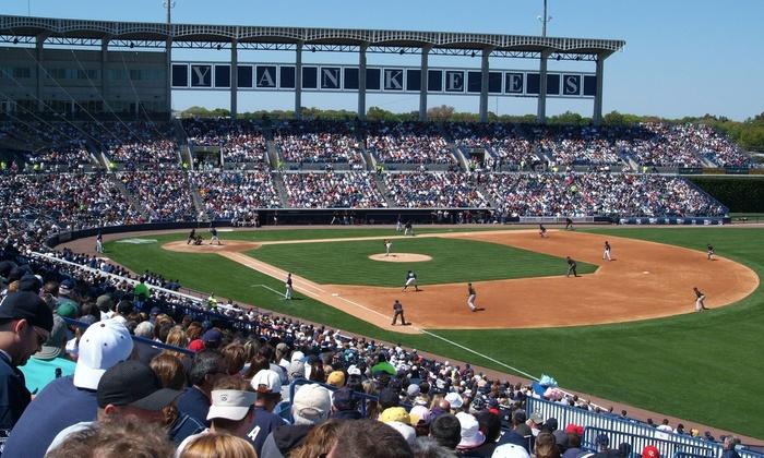 New York Yankees - George M. Steinbrenner Field: New York Yankees Spring Training Game with Food at George M. Steinbrenner Field (40% Off). Three Games Available.