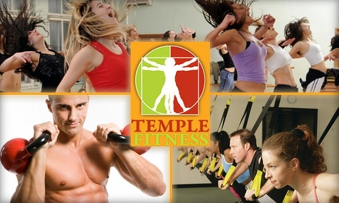 Temple Fitness - Franklin: $15 for a 10-Point Pack of Group Classes and Training at Temple Fitness ($59 Value)