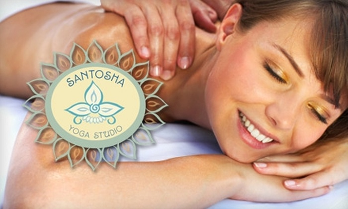 Santosha Yoga Studio - Cranston: $35 for 60-Minute Therapeutic Massage at Santosha Yoga Studio ($70 Value)