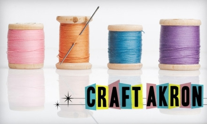 Craft Akron - Merriam Valley: $10 for One Sewing-Series or Stitch-Series Class at Craft Akron (Up to $50 Value)
