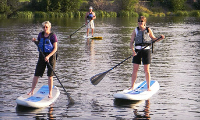 Tube Leavenworth and Der Hinterhof - Downtown Leavenworth: Three-Hour or Full-Day Standup-Paddleboard River Tour Packages from Tube Leavenworth and Der Hinterhof (Up to 63% Off)