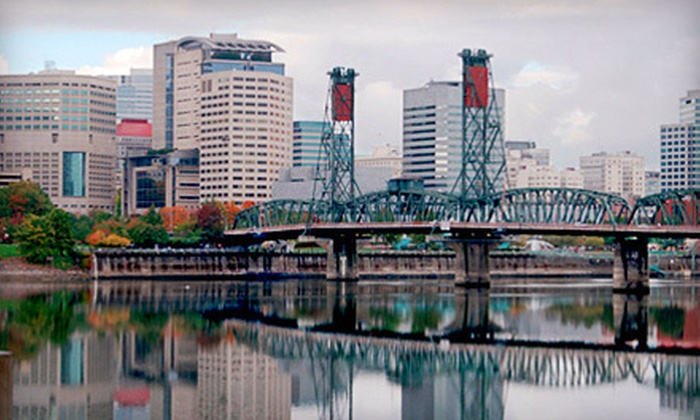 Big Pink Sightseeing - Gray Line of Portland - Downtown Portland: Hop-On, Hop-Off Trolley Sightseeing Tours for One Adult or Child from Big Pink Sightseeing - Gray Line of Portland (Up to 52% Off)