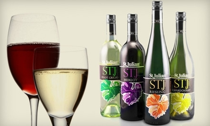 St. Julian Winery - Multiple Locations: $10 for $20 Worth of Wine, Spirits, and Sparkling Juices at St. Julian's Winery and a Complimentary Tasting. Four Locations Available.