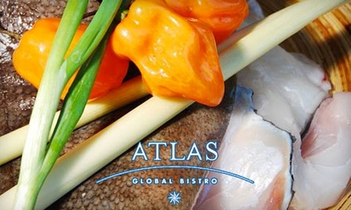 Atlas Global Bistro - University: $20 for $40 of Globally Inspired Cuisine and Drinks at Atlas Global Bistro