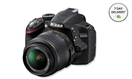 Nikon D3200 24.4MP CMOS Digital SLR Camera with 18mm–55mm VR Lens (Manufacturer Refurbished). Free Returns.