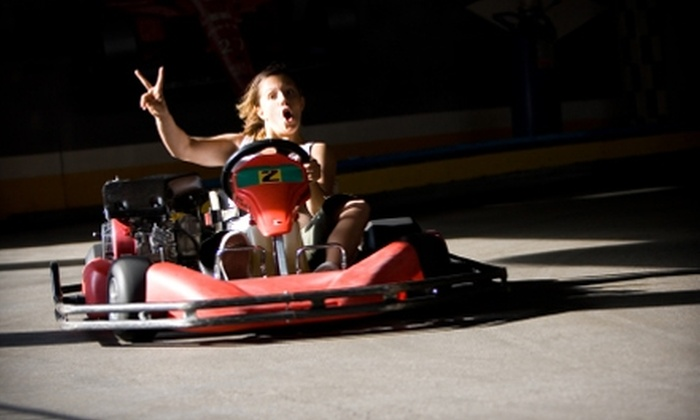 Albuquerque Indoor Karting - Highland Business: $25 for One-Year Go-Karting Membership, Two Races, Helmet Sock, and a Scoop of Gelato at Albuquerque Indoor Karting ($54.50 Value)