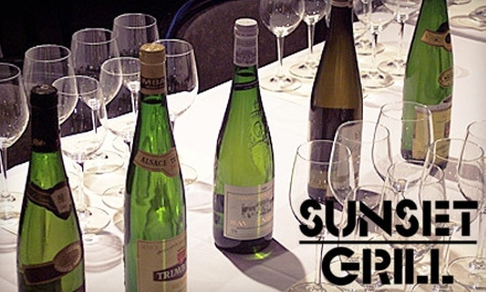 Sunset Grill - Hillsboro West End: $20 Wine Class at Sunset Grill ($40 Value)