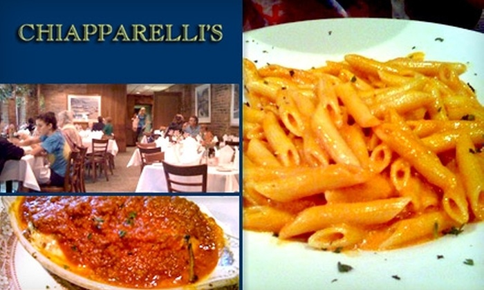 Chiapparelli's Restaurant - Little Italy: $15 for $35 Worth of Italian Dinner Cuisine and Drinks at Chiapparelli's Restaurant