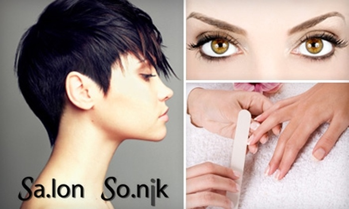Salon Sonik - Pasadena: $45 for a Haircut, Manicure, and Eyebrow Shaping at Salon Sonik in Pasadena (Up to $124 Value)
