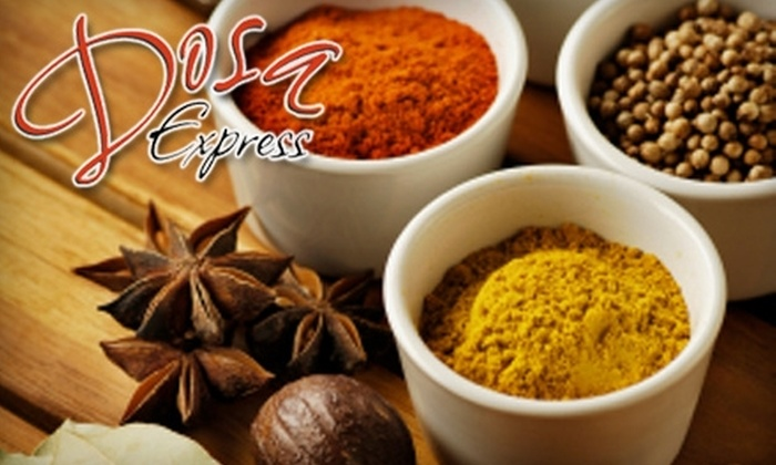 Dosa Express - Tustin: $10 for $20 Worth of Indian Fare and Drinks at Dosa Express in Tustin