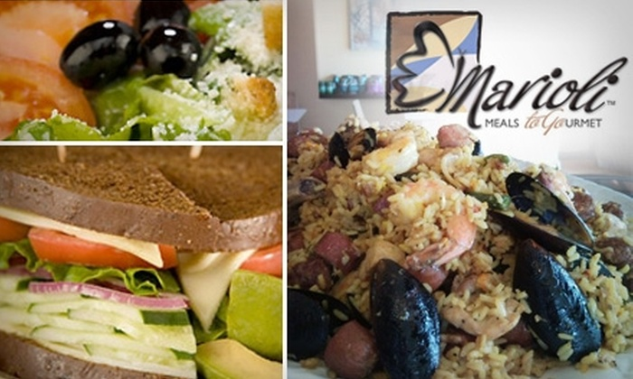 Marioli - Stone Oak: $17 for Two Prepared Meals for Two from Marioli ($34 Value)