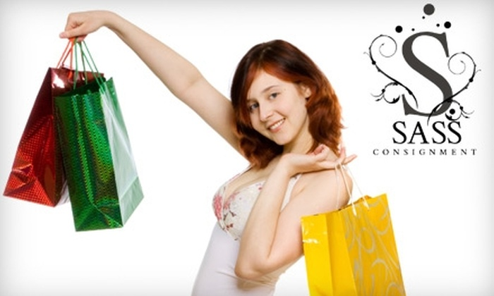 Sass Consignment - Highland Park: $25 for $50 Worth of Gently Used Brand-Name Apparel and More at Sass Consignment