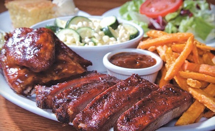$50 Groupon to Back Forty Texas BBQ Roadhouse and Saloon - Back Forty Texas BBQ Roadhouse and Saloon in Pleasant Hill