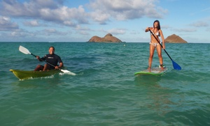 Hawaiian WaterSports: Full-Day Single Kayak or Standup-Paddleboard Rental for One or Two from Hawaiian WaterSports (Up to 51% Off)