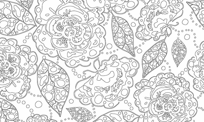 Stress Relieving Colouring Book | Groupon